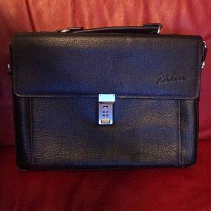 Dark brown suede/leather Briefcase